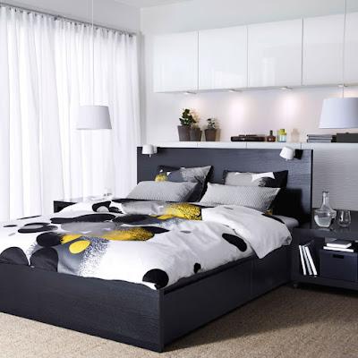 صاميم غرف نوم بألوان متناسقة وجميلة