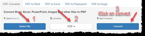 PDF Coversion