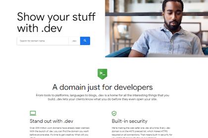 Domain .Dev Telah Tersedia Buat Kamu Developer...