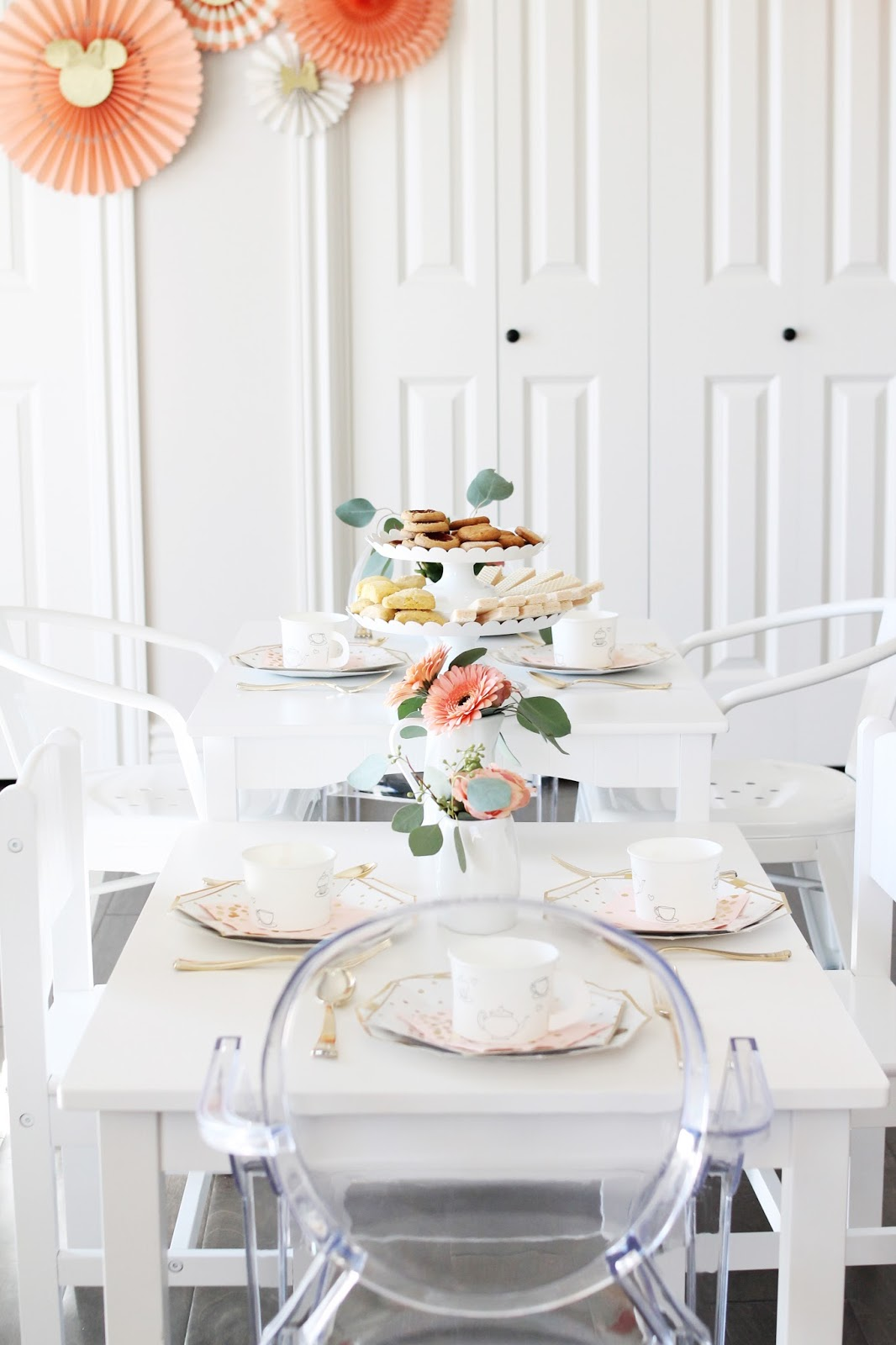 Kids tea party table - I Set Up Some Kids Play Tables And Chairs For A Little Tea Party Table All The Kids Were 4 And Under So We Kept Things Really Simple With These Paper Tea