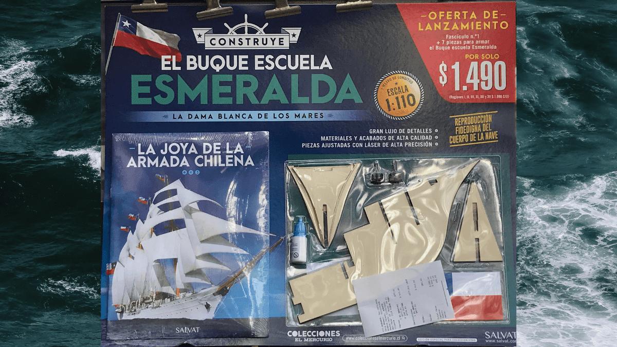 Construye el Buque Escuela Esmeralda 1:100 El Mercurio Chile