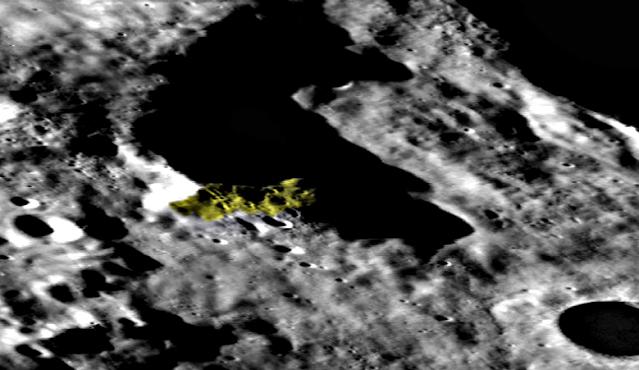 Extrañas formas en el lado oscuro de la luna, mapa lunar LROC, fotos 2