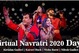 Online navratri garba at home through youtube from Kirtidan to Jignesh barot