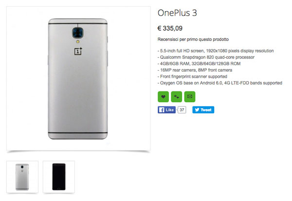 "OnePlus 3 already in ""sales"" before the official announcement of Oppomart"