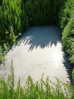 Calvino's tomb in the village cemetery at Castiglione della Pescaia in Tuscany