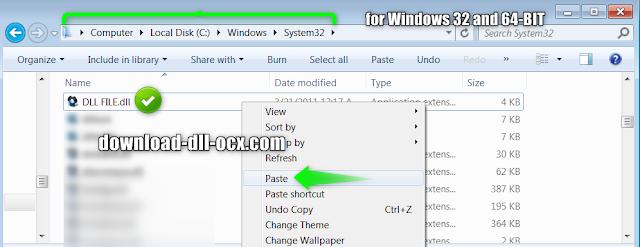 install dll file in windows 7,10,8.1,xp,vista system 32 bit