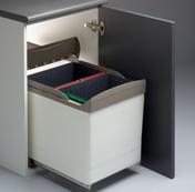 cubo basura extraible puerta automatica cocina