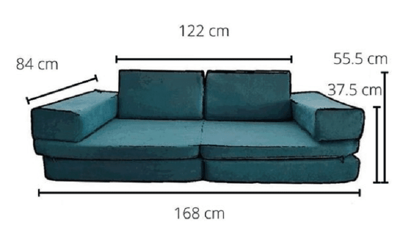 whatsie play couch measurements