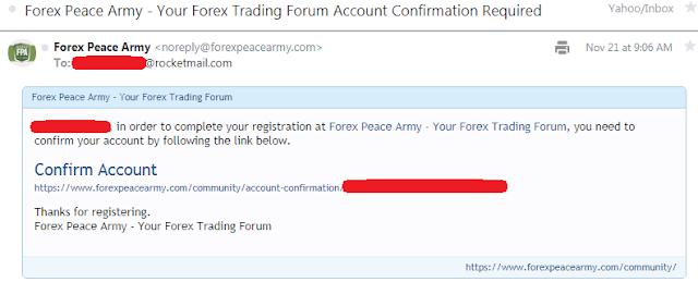 Cara mendaftar forum forexpeacearmy