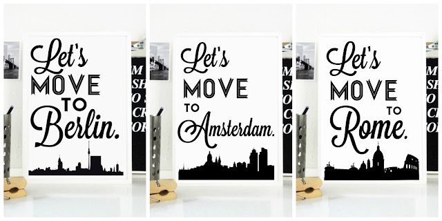 Lets Move to Travel Prints Berlin Amsterdam Rome Posters Travel Art Holiday Destination European Cities Europe Etsy Print Handmade