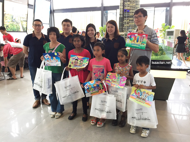 The winners for the Children Coloring Contest