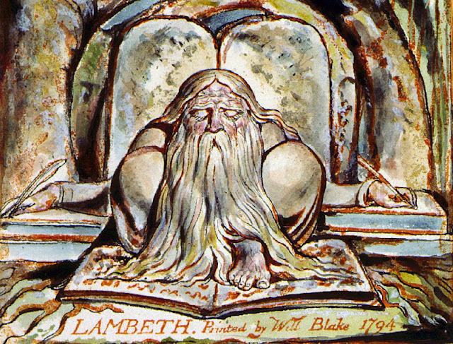 Pintura de Urizen feita por William Blake (1784)