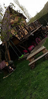 Cabaña de madera para niños