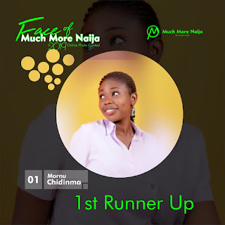 Miss Mornu Chidinma Joy Face of Much More 9ja 2019 first Runner Up