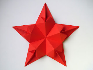 Origami Stella di cuori - Star of hearts by Francesco Guarnieri