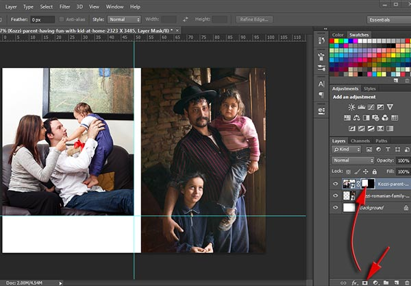 Create layer mask from selection in Photoshop