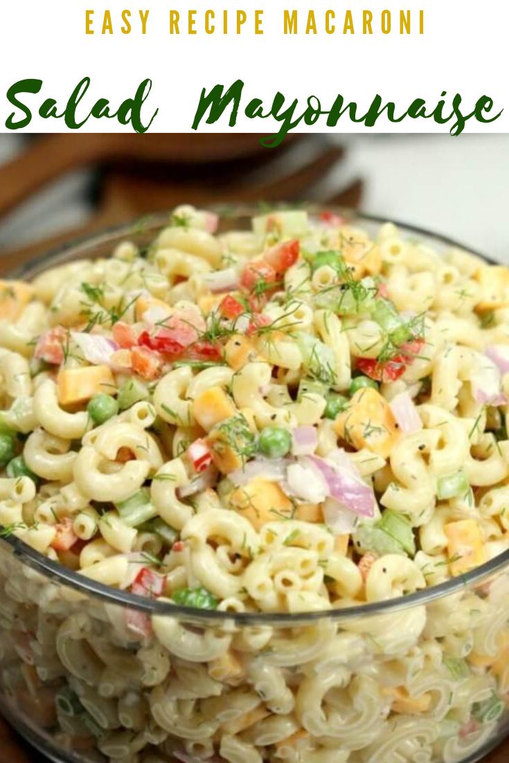 #Easy #Recipe #Macaroni #Salad  #Mayonnaise #dinner #healthyrecipes #easyrecipe