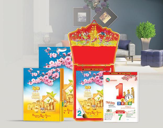 Nơi in lịch tết giá rẻ tại Tp. HCM, Cần Thơ, Long An, Tây Ninh, Đồng Nai, . . .