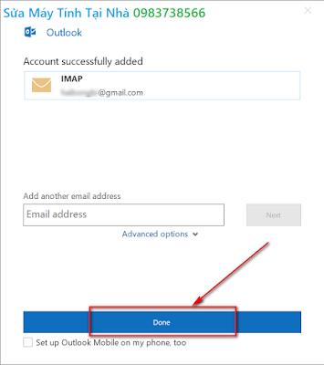 Hướng dẫn cài đặt mail trong Outlook 2019