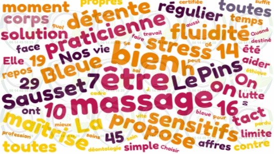 Massage sensitif Côte Bleue;