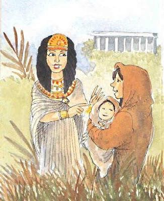 Mosè viene affidato ai veri genitori