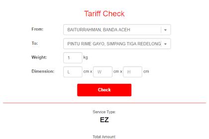Cara Cek Tarif J&T Express