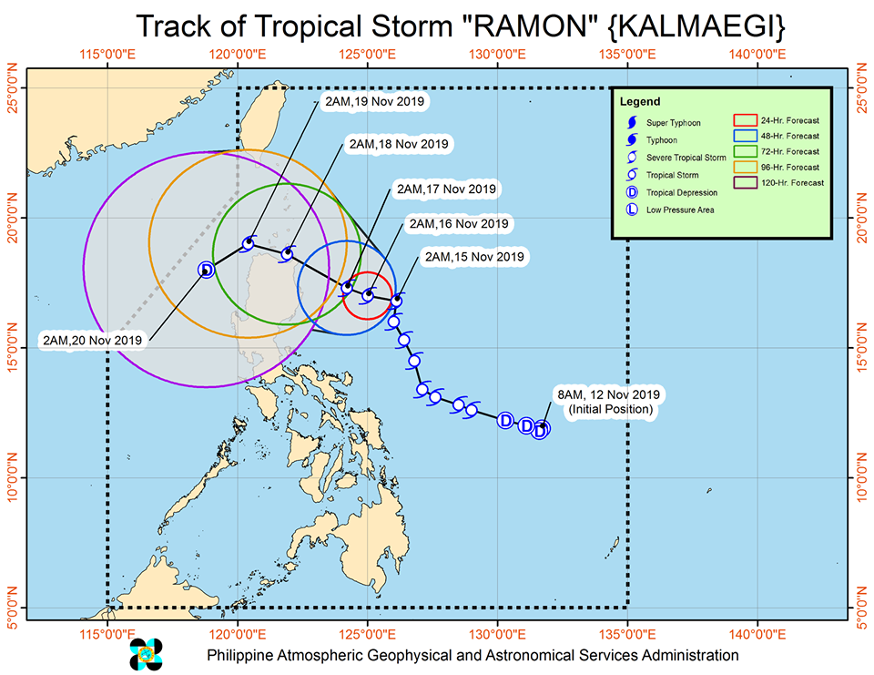 Track of Tropical Storm Ramon.