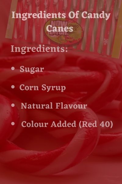 Ingredients of Candy canes