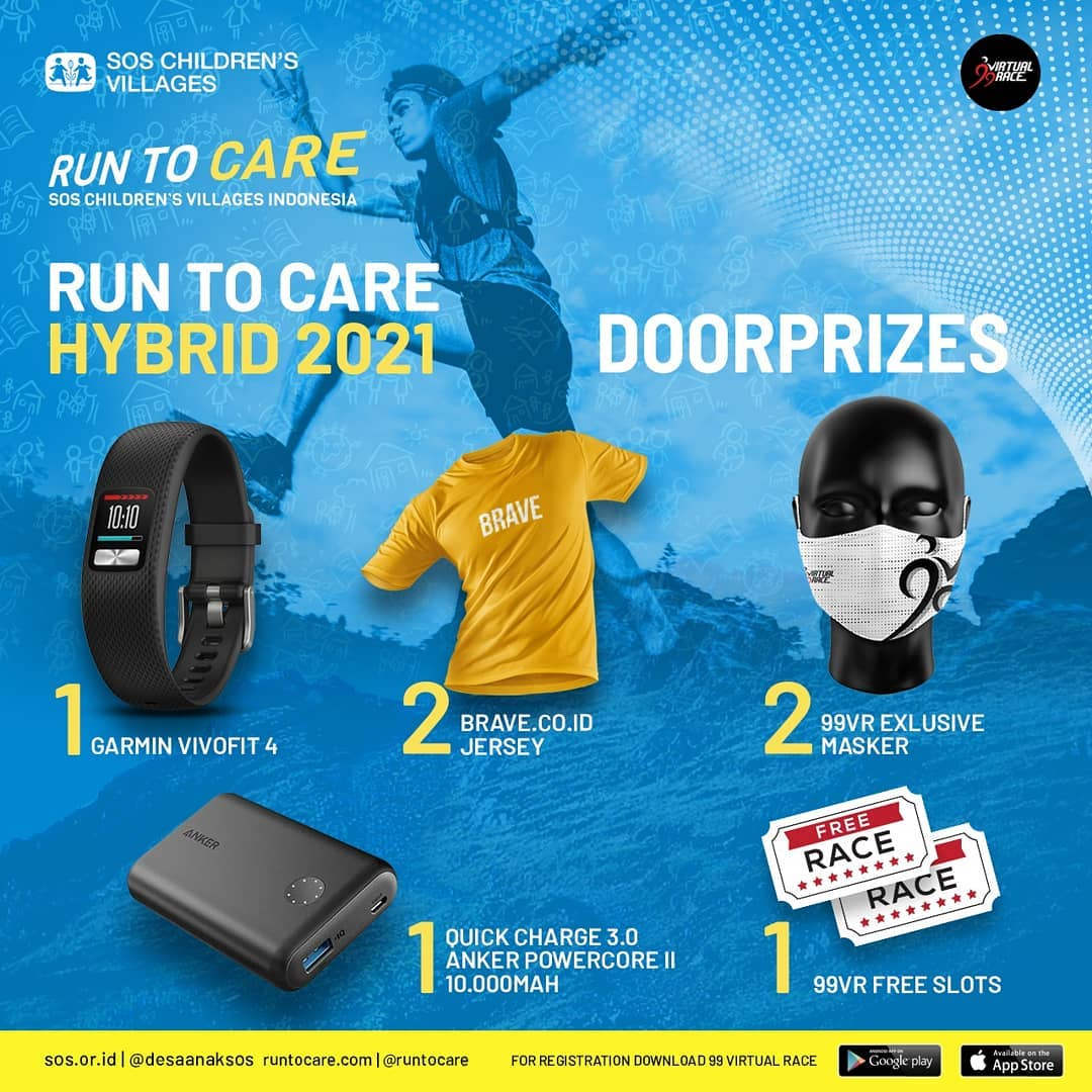 Doorprize 🎁 Virtual Race #RunToCare Hybrid • 2021