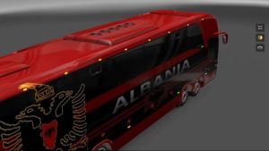 Bus – Marcopolo G7 1600LD 5 Albania Football Team Skins