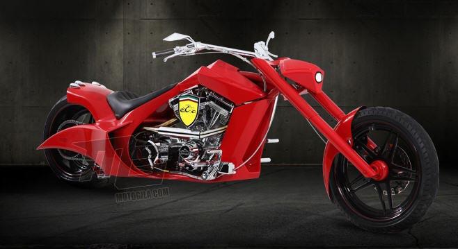 foto motor ferrari konsep chopper