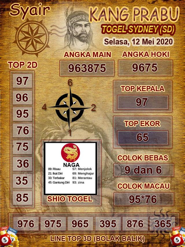 Prediksi Sidney Selasa 12 Mei 2020 - Syair Kang Prabu
