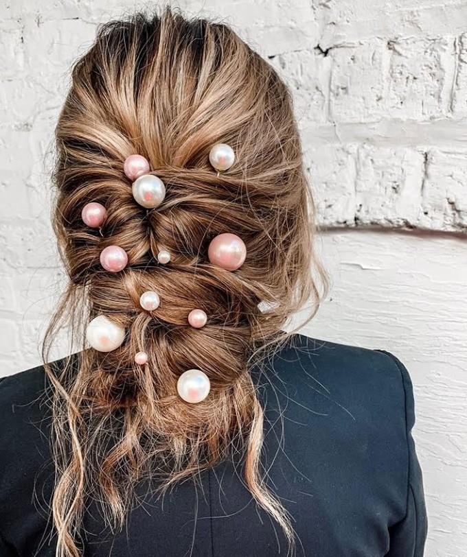 peinados con accesorios para el pelo