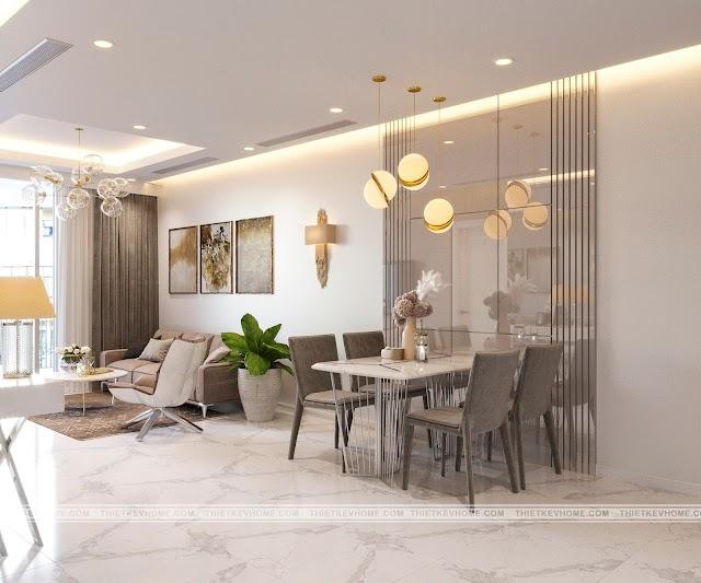 Thiết kế căn hộ chung cư cao cấp The Rivana 2 phòng nghỉ cực thông minh