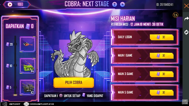 misi harian cobra next stage