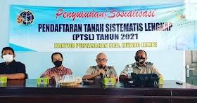 BPN Muaro Jambi Sosialisasi PTSL PM Fase Empat ke Desa Nyogan Kecamatan Mestong