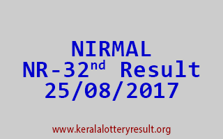 NIRMAL Lottery NR 32 Results 25-8-2017