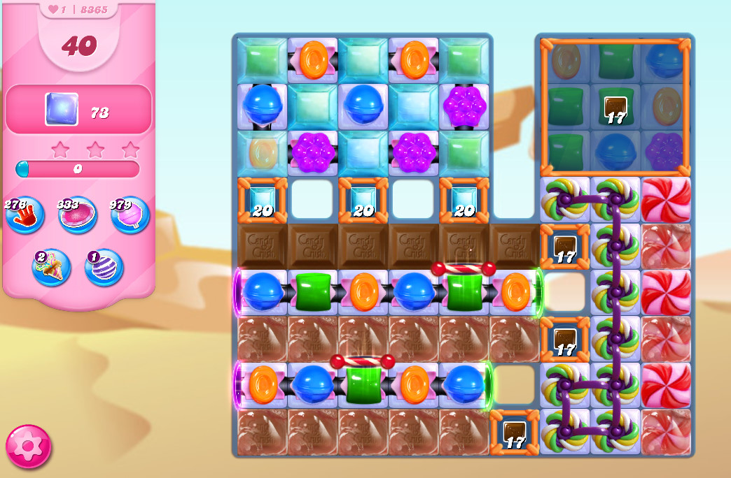Candy Crush Saga level 8365