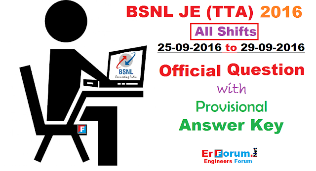 bsnl-je-2016-official-paper-answer-key