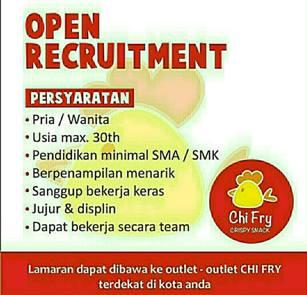 Lowongan Kerja di Chi Fry Crispy Snack Makassar
