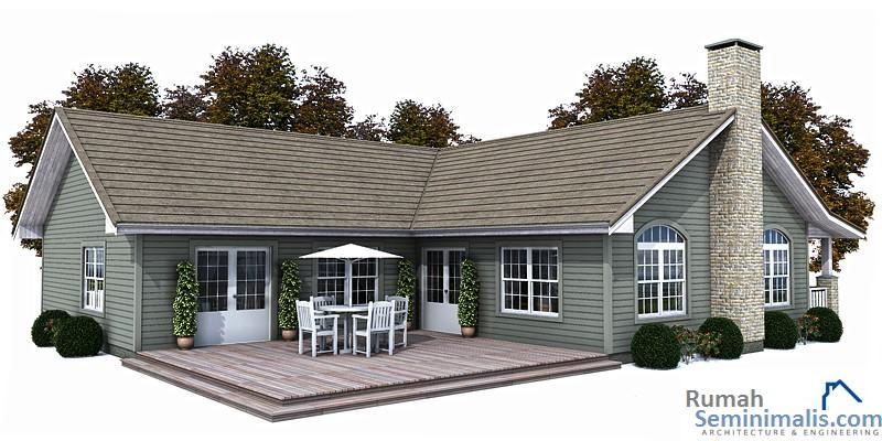Denah Model Desain Gambar Rumah Minimalis Idaman Sederhana Tipe 144