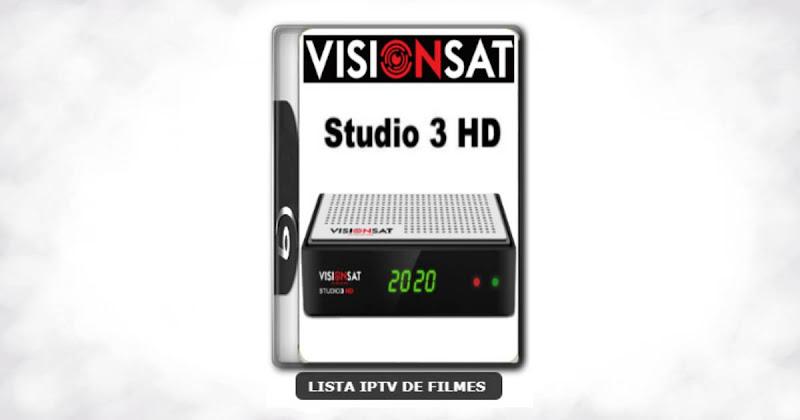 Visionsat Studio 3 HD Nova Atualização Melhoria de Sitema 61w ON, 63w ON, 107w ON, IKS ON, SD ON e HD ON V1.61