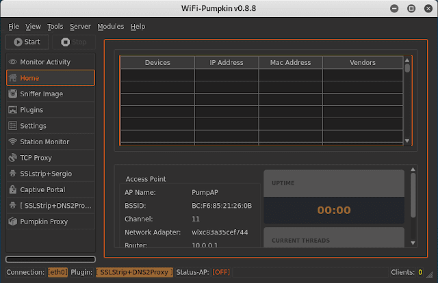 configure WiFi-Pumpkin