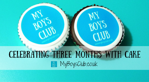 Celebrating Three Months of My Boys Club with Cake
