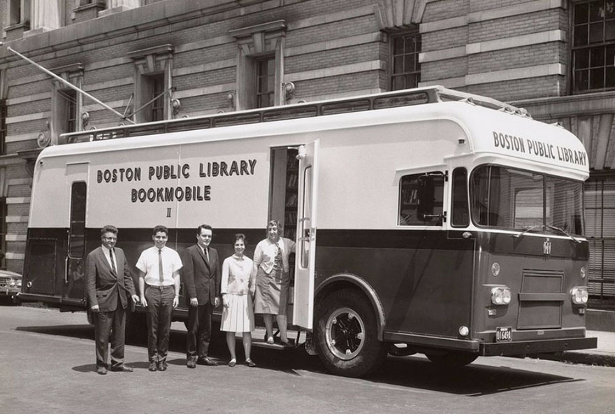 Before Amazon, We Had Bookmobiles 15+ Rare Photos Of Libraries-On-Wheels - A Boston Public Library Bookmobile, 1963