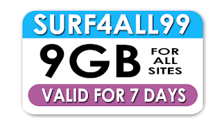 Globe Surf4ALL99 - 9GB Data Shareable Data for 7 Days
