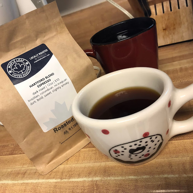 Sitting down with some Hartford Blend Espresso from Maple Leaf Coffee Roasters