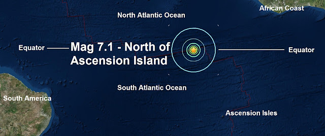 Bullseye: A massive mag 7.1 hits the centre of the Atlantic directly on the Equator  Untitled