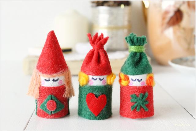 Como Hacer Duendes De La Navidad Con El Corcho De Una Botella Pica - Adornos-de-navidad-reciclados-como-hacerlos