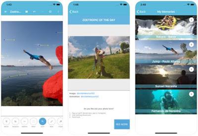 Aplikasi Foto Bergerak iPhone - Zoetropic